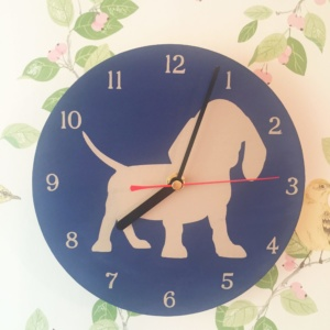 Dog Design Wall Clock Puppy