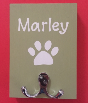 Personalised Dog Lead Holder - Marley