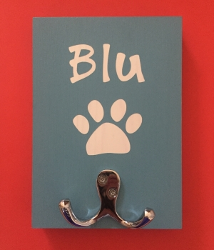 Personalised Dog Lead Holder - Blu