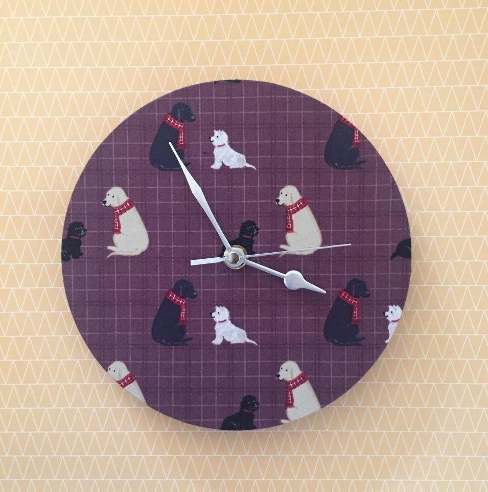 Labrador and Westie Wall Clock