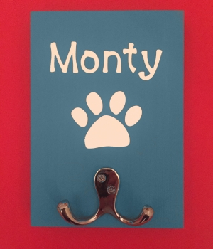 Personalised Dog Lead Holder - Monty
